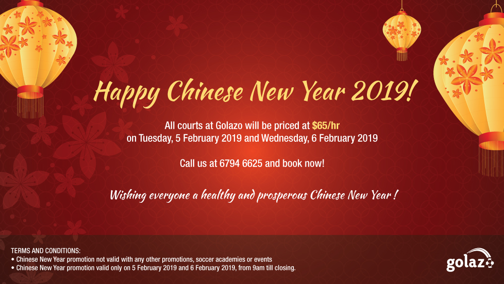 Chinese New Year 2019 promotion